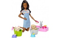 Black Friday 2020 - Barbie Play 'n' Wash Pets Nikki Doll and Playset