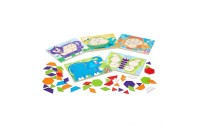 Melissa & Doug Animal Pattern Blocks Set With 5 Double-Sided Wooden Boards and 47 Multi-Shaped Blocks