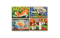 Black Friday 2020 - Melissa & Doug Animals 4-in-1 Wooden Jigsaw Puzzles Set - Pets and Farm 96pc
