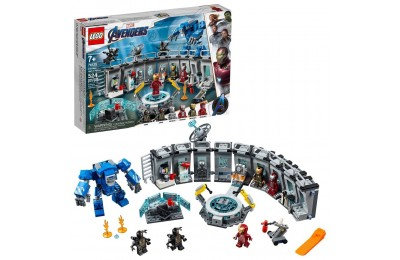 Black Friday 2020 - LEGO Marvel Avengers Iron Man Hall of Armor Superhero Mech Model with Tony Stark Action Figure 76125