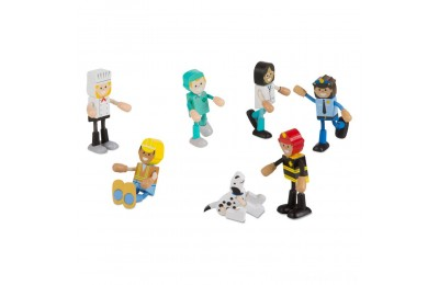 Melissa & Doug Wooden Flexible Figures - Careers