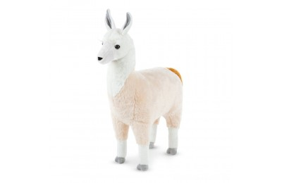 "Melissa & Doug Standing Lifelike Plush Llama Stuffed Animal (31"" x 30 "" x 9.5"")"