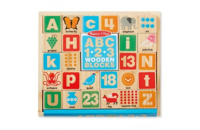 Black Friday 2020 - Melissa & Doug ABC/123 Wooden Blocks (26pc)