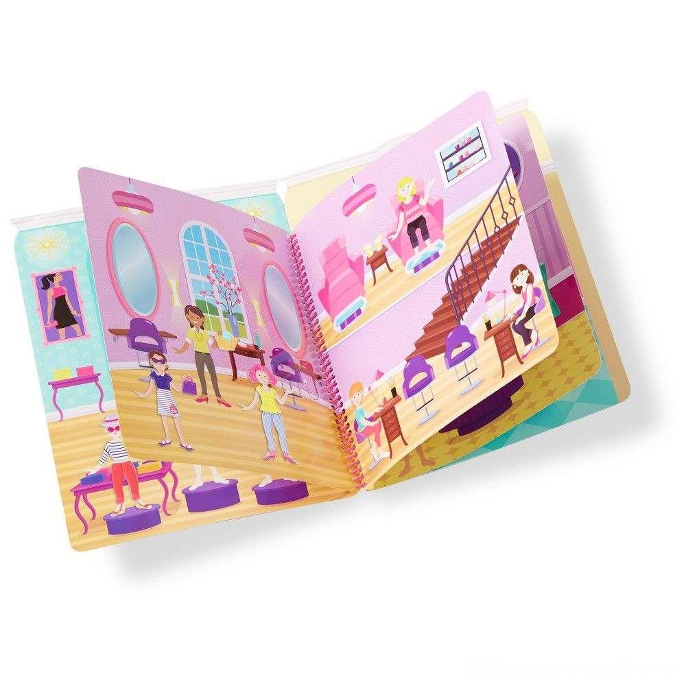 Black Friday 2020 - Melissa & Doug Deluxe Puffy Sticker Activity Book Set: Day of Glamour and Riding Club - 392 Reusable Stickers