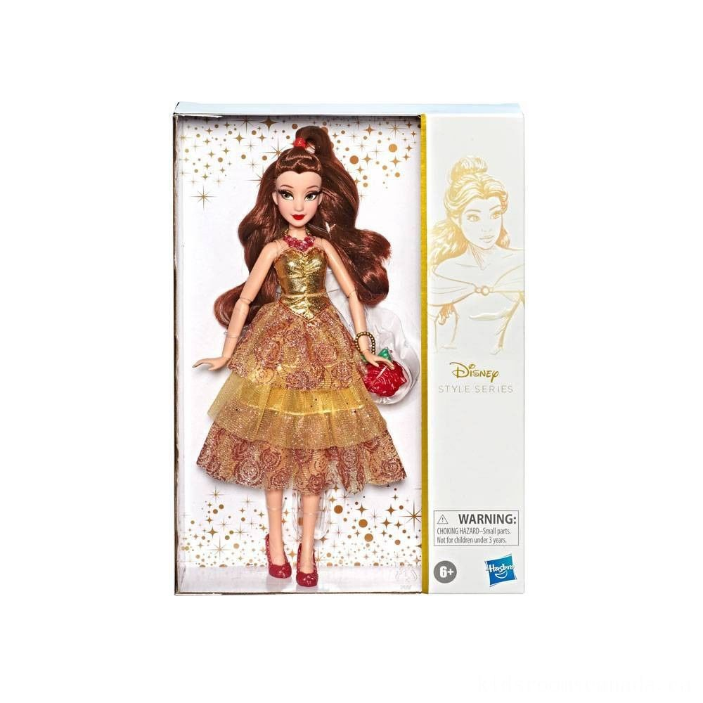 Black Friday 2020 - Disney Princess Style Series - Belle Doll in Contemporary Style with Purse & Shoes