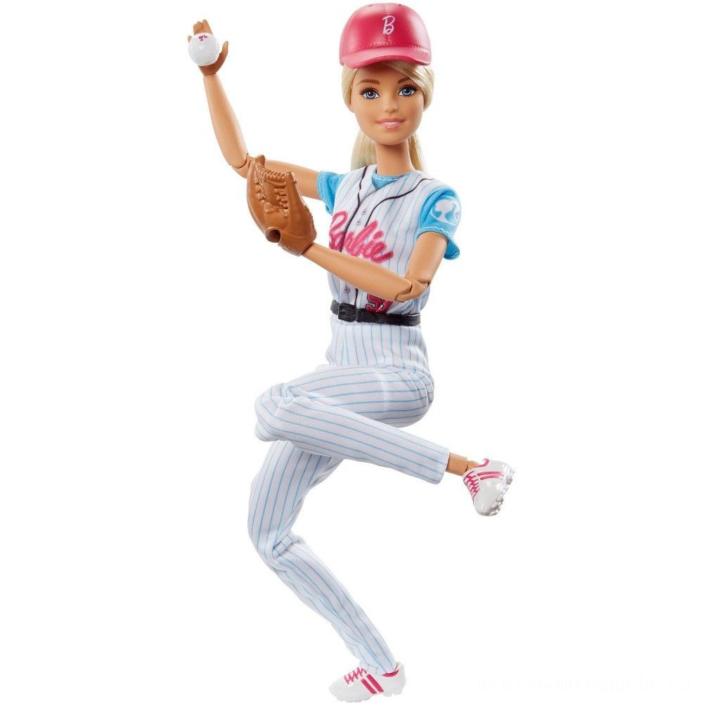 Black Friday 2020 - Barbie Made to Move Baseball Player Doll
