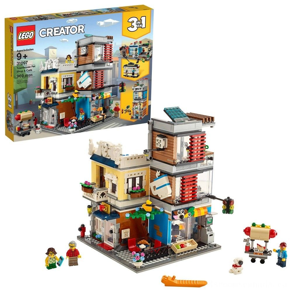 Black Friday 2020 - LEGO Creator Townhouse Pet Shop & Café 31097