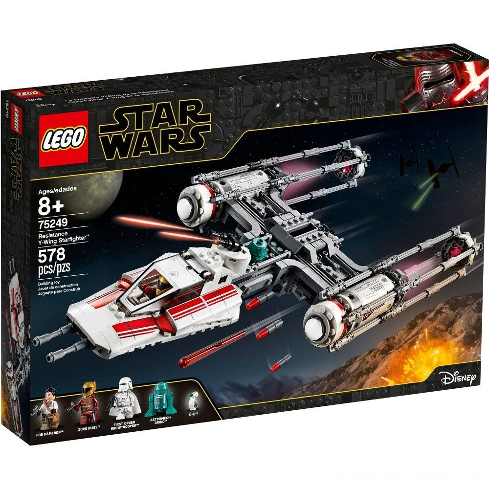 Black Friday 2020 - LEGO Star Wars: The Rise of Skywalker Resistance Y-Wing Starfighter 75249 New Advanced Collectible Starship Model Building Kit 578pc
