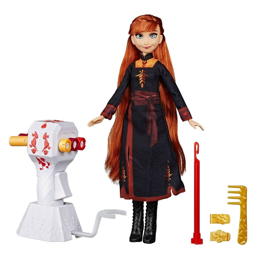 Black Friday 2020 - Disney Frozen 2 Sister Styles Anna Fashion Doll With Extra-Long Red Hair, Braiding Tool and Hair Clips