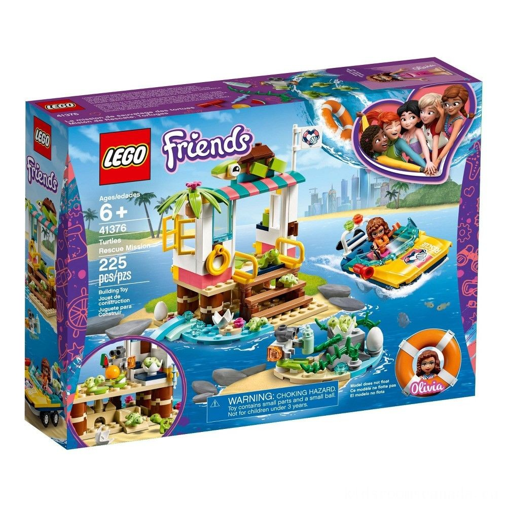 Black Friday 2020 - LEGO Friends Turtles Rescue Mission 41376 Building Kit Includes Toy Vehicle and Clinic 225pc