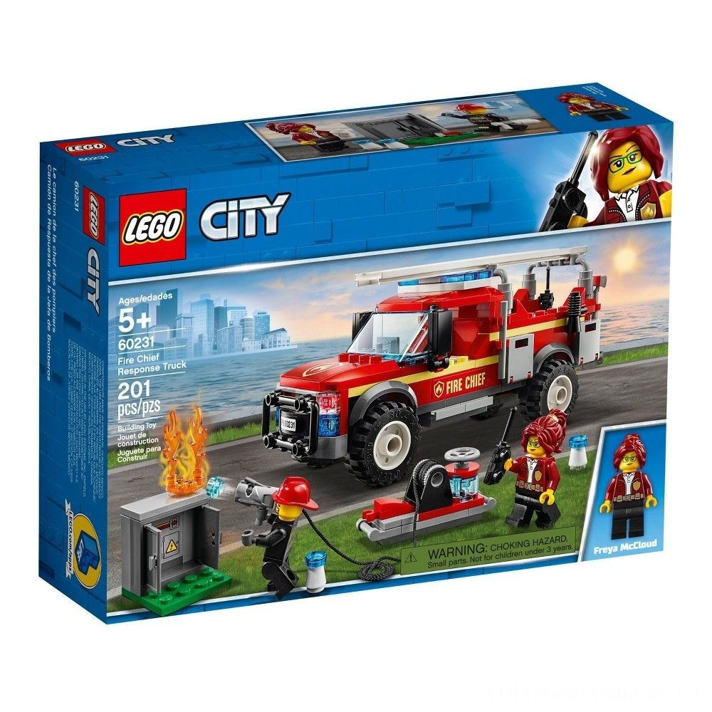 Black Friday 2020 - LEGO City Fire Chief Response Truck 60231 Building Set with Toy Firetruck and Ladder 201pc