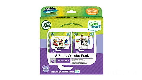 LeapStart® 2 Book Combo Pack: Math in Action and Toys Save the Day Ages 3-6 yrs.