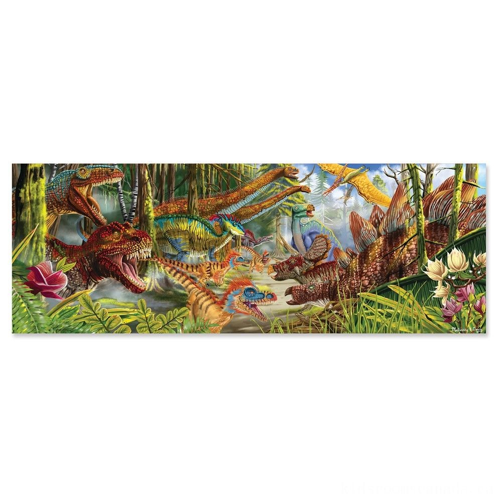 Melissa And Doug Dinosaur World Jumbo Floor Puzzle 200pc