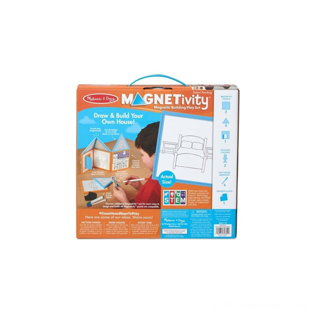Melissa & Doug Magnetivity - Draw & Build House