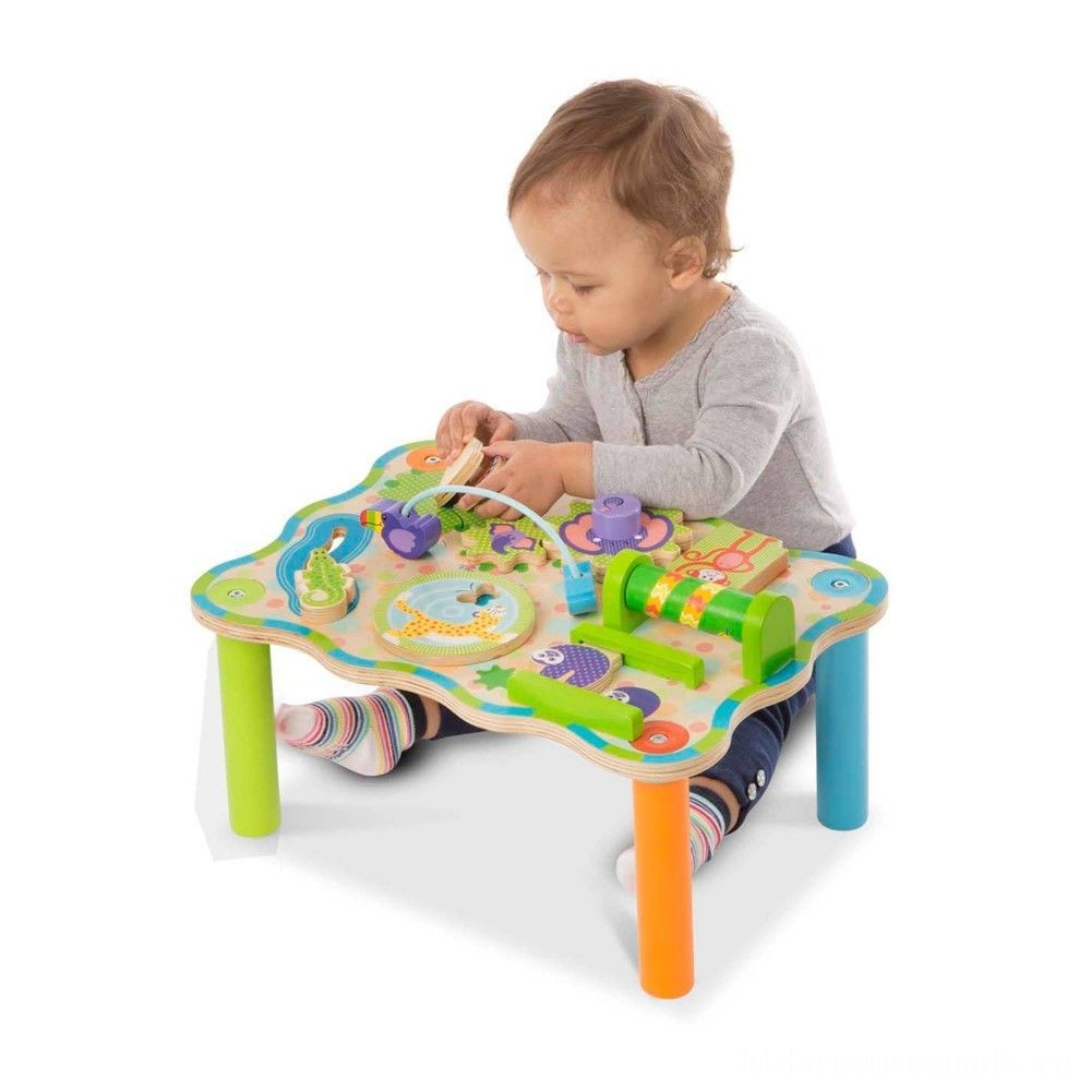 Black Friday 2020 - Melissa & Doug First Play Childrens Jungle Wooden Activity Table for Toddlers