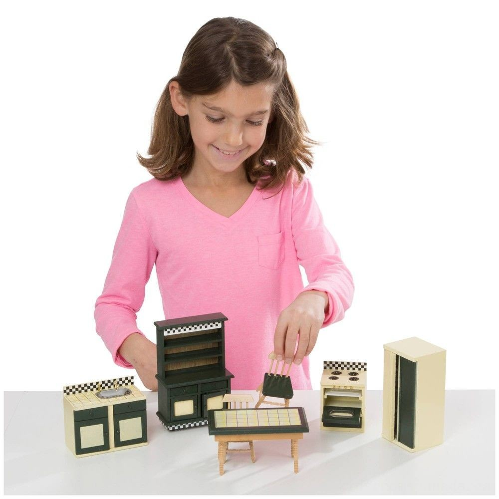Black Friday 2020 - Melissa & Doug Classic Victorian Wooden and Upholstered Dollhouse Furniture (35pc)