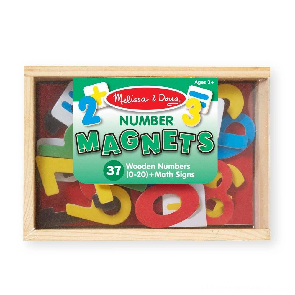 Black Friday 2020 - Melissa & Doug 37 Wooden Number Magnets in a Box